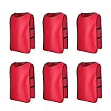 6 X Senston Sports Pinnies Adult Scrimmage Training Vests Football/Soccer Bibs Red and 3 Size