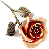 Hand Forged Red Iron Rose - Romantic Wedding Anniversary Gift