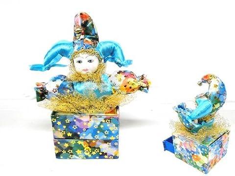 Clown En Porcelaine - Boite bijoux musical arlequin clown porcelaine
