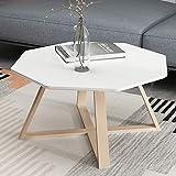 XQY Teetisch, Kreativer Weißer Couchtisch des Wohnzimmers, Nachttisch des Schlafzimmers, Kleiner Quadratischer Beistelltisch,Weiß,70cm / 27.6In