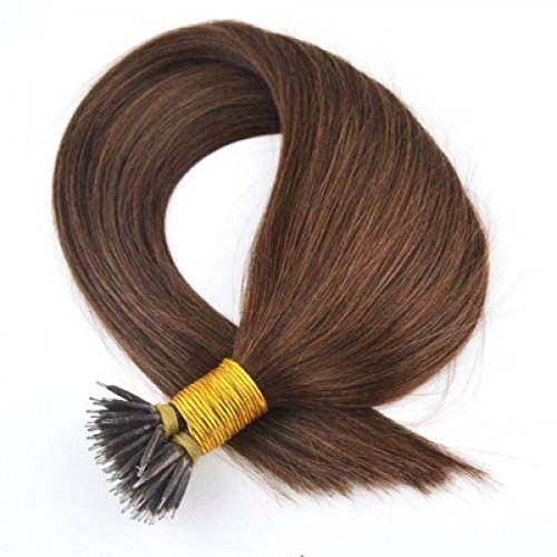 Forever Young Nano Ring Tip Remy Human Hair Extensions #4 Medium Brown (16 Long) 50 FREE RINGS INCLUDED! by Forever Young (Forever Extensions Young Hair)