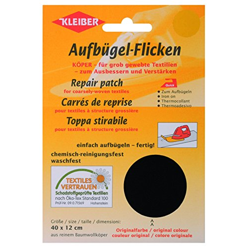 kleiber-40-x-12-cm-grand-patch-reparation-thermocollants-coton-noir