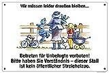 Boxenschild / Stalltafel
