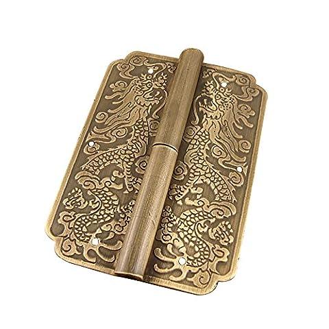 Cuivre antique armoire charnière cuivre accessoires Chine Acajou Meubles Hardware Accessoires Bronze 8* * * * * * * * 5.8cm/8x 5,8cm Épaisseur d'environ 1,6mm/0,2cm Lot de 2