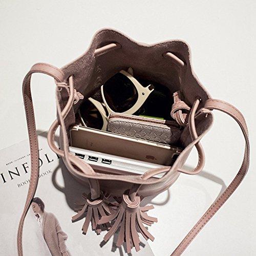 Frauen Schultertaschen Mini Eimer Tasche Cute Feminine & Von Crossbody Kleine Taschen PU Leder Black