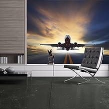 Avión Fotomurales Transporte de aviones murales pared Niños de viaje Decoración del hogar Disponible en 8 Tamaños XX-Grande Digital