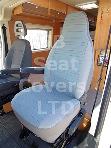 Fiat Ducato motorhome, 2007, seat covers - Reggie blue mh-031, 2 fronts