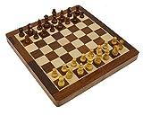 Fasherati Handicrafts Wooden Magnetic Traveller Folding Chess Set 12'
