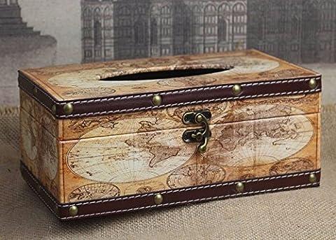 ZPP-Cuir de qualité serviette de papier Zone de fumée multifonctionnelle tiroir boîte Boîte de rangement wallet storage Serviette Boîte de mouchoirs de papier
