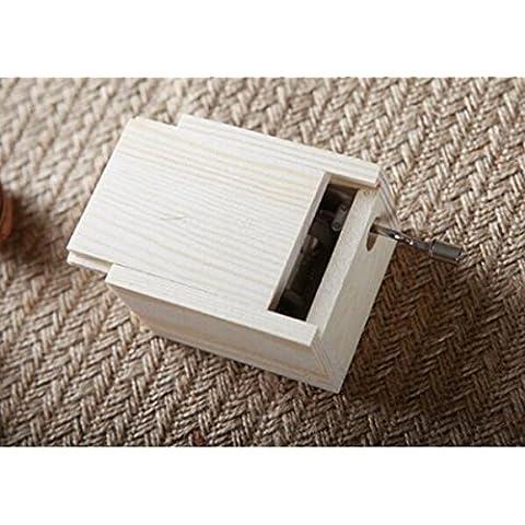 XQXmanovella scatola Mini Music Box Legno Musica regali di compleanno