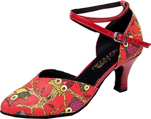 Cfp - Dance-ballroom Dance Woman Rojo