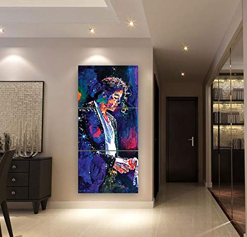 ksjdjok Michael Jackson Malerei Modulare Bilder Moderne Home Wandkunst Dekorative Abstrakte Leinwand Poster HD Gedruckt 40X60 cm 3 Stücke Rahmenlose (Michael Jackson Home Decor)