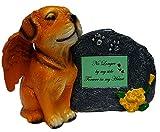 Impressum Plus Gold Engel Gedenk-Statue Hund mit Tribute Teller und Andenken Box für Asche von, No Longer by My Side, Green Plate