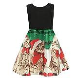 Riou Weihnachtskleid Mädchen Prinzessin Lang Ärmellos Weihnachten Kinder Baby Tutu Mini Elegant Ballkleider Abendkleid Elegant für Hochzeit Party Outfits Kleidung Set (130, Grün)
