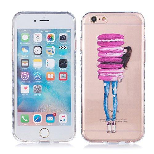 iPhone 6 Plus Hülle, E-Lush TPU Soft Silikon Tasche Transparent Schale Clear Klar Hanytasche für Apple iPhone 6/6S Plus(4,7 zoll) Durchsichtig Rückschale Ultra Slim Thin Dünne Schutzhülle Weiche Flexi Macaron