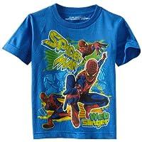 Marvel Little Boys' Spiderman Fun Splash Shirt, Royal, Medium (5/6)