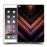 Head Case Designs Offizielle PLdesign Orange Und Purpurrot Glitzerndes Metall Soft Gel Hülle für iPad Air 2 (2014)
