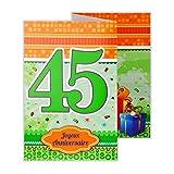 afie 882133 Carte 3 Volets Joyeux Anniversaire 45 ans