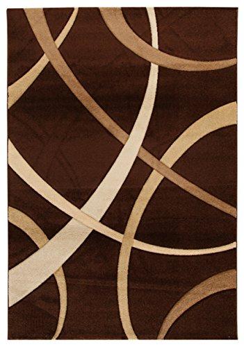 Viva Tappeti Terra Tappeto, Materiale Sintetico, Marrone/Beige, 120x170x24 cm
