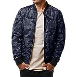 Sannysis Jacke Herren Slim Fit Pullover Langarm Mantel Herbst Winter Casual Camouflage Reißverschluss Übergangsjacke Coat Top Bluse