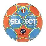 SELECT Combo Ballon de handball Adulte Unisexe, Bleu/Orange Taille 3