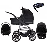 Bebebi London | ISOFIX Basis & Autositz | Luftreifen | 4 in 1 Kinderwagen Set | Farbe: Tower Bridge