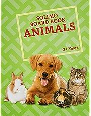 Amazon Brand - Solimo Long Board Book, Animals