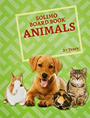 Amazon Brand - Solimo Long Board Book, Animals