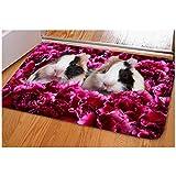 Showudesigns Animal Design Fußmatte vorne Matte Como Outdoor Bereich Teppiche für Weihnachten Deko, Flanell, hase, S