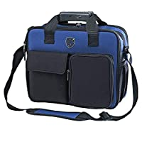 HGWDE Professional Power Tool Shoulder Bag,Tool Storage HandBag Multifunction Function Technician Bag Shoulder Strap Included Sturdy Bottom (Color : Blue, Size : One size)