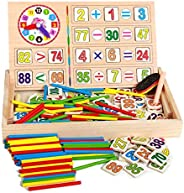 Montessori Toys Baby Puzzle Wooden Math Educational Toys Number Counting Sticks Toys Children Mathematics Teac