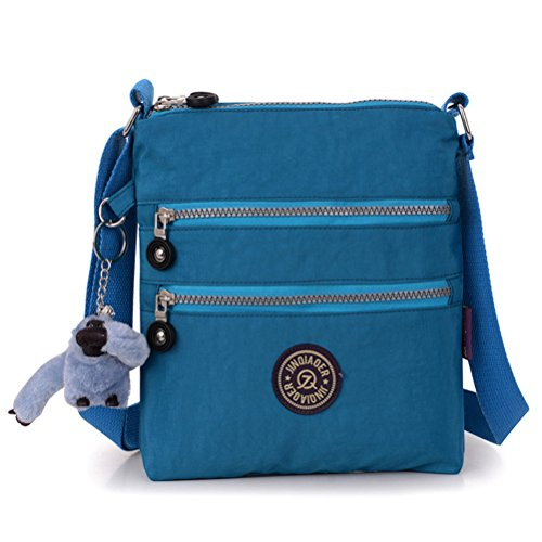 Honeymall borse a spalla borsa a tracolla muliti tasche borsetta le donne casuale multi tasca Borsa a tracolla impermeabile Viola Oceano blu