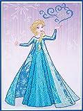 Vervaco 5413480782697 Disney ELSA Diamanten Malerei, Acrylic, Mehrfarbig, ca. 57 x 80 cm