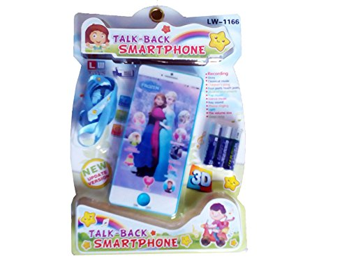Frozen Character ANNA & ELSA Talking Musical Smart Phone 3D Mobile Baby Phone Ultra Clear Recording Learning toy for kids