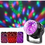 Lixada Bola Discoteca Luces RGB LED Mini Crystal Magic Bola Giratoria Efecto LED Escenario Luces para KTV Navidad Fiesta Boda Discoteca DJ