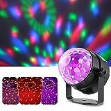 Lixada Luce a sfera per feste pub discoteca/ lampadina LED Rotante multicolore,effetti di colore con luci cangianti , fili di luce a forma di tela di ragno,voce controllo,3W,RGB,3 LEDs