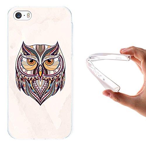 iPhone SE iPhone 5 5S Hülle, WoowCase Handyhülle Silikon für [ iPhone SE iPhone 5 5S ] Ethnischer Löwe Handytasche Handy Cover Case Schutzhülle Flexible TPU - Transparent Housse Gel iPhone SE iPhone 5 5S Transparent D0186