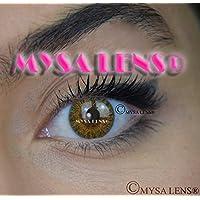 e2008fb096691 Mysa Lens® Lente de contacto de color fantasía Crazy Lens Cosplay ojos Pure  Color Marrón