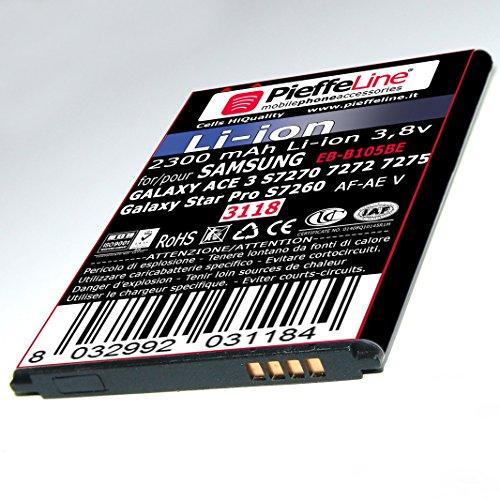 PIEFFELINE Batteria per Samsung Galaxy ACE 3 S7270 S7272 S7275 e Star Pro S7260 2300mAh tipo B105BE