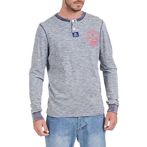 Urban Beach Herren Dean Long Sleeve Stripe Top grau