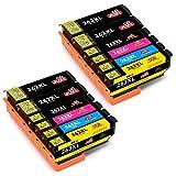 JIMIGO 26XL Druckerpatronen Ersatz für Epson 26 Patronen Kompatibel mit Epson Expression Premium xp 520 XP-510 XP-610 XP-605 XP-700 XP-600 XP-615 (4 Schwarz, 2 Cyan, 2 Magenta, 2 Gelb, 2 Foto Schwarz)
