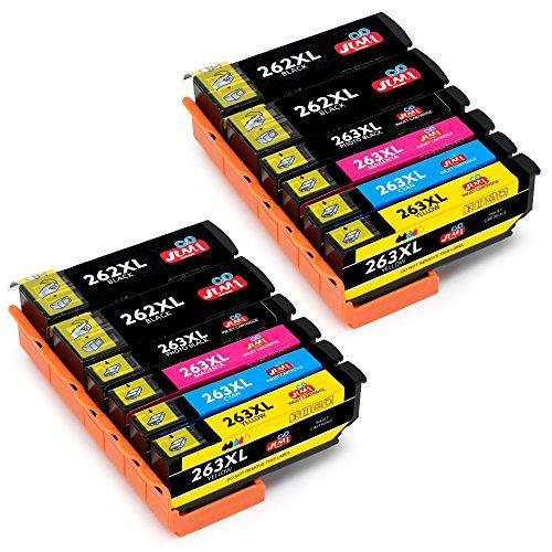 JIMIGO 26XL Cartuchos de Tinta Reemplazo Para Epson 26 Tinta Compatible con Epson Expression Premium XP 520 XP-610 XP-615 XP-510 XP-600 XP-605 XP-710 (4 Negro, 2 Cian, 2 Magenta, 2 Amarillo, 2PBK)