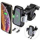 Wireless-Charger-Auto, DesertWest QI Induktive KFZ Ladegerät mit Auto Handy Halterung Drahtloses Ladestation für iPhone XS/XS Max/XR/X/8/8 Plus, Galaxy S9/S9+/Note 9/S8/S8+ und alle Qi-fähige Handys