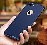 [MOBISTYLE] Soft Silicone With Anti Dust Plugs Shockproof Slim Back Cover Case For [Apple iPhone 7 Plus] [iPhone 7 Plus]- Blue