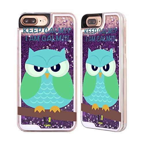 Head Case Designs Ala Arancione Perfidi Gufi Custodia Cover con Glitter Liquidi Porpora per Apple iPhone 6 Plus / 6s Plus Ala Verde