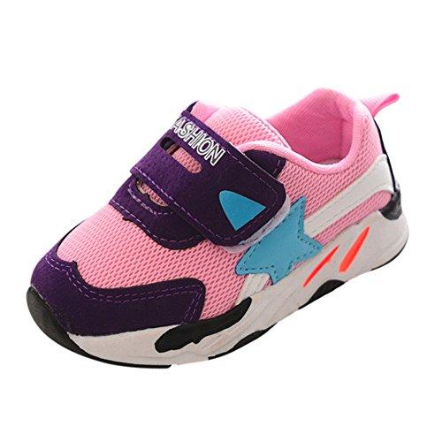 Quaan Kleinkind Mode Kinder Sport Laufen Baby Schuhe Jungen Mädchen Star Mesh Schuhe Turnschuhe Hell Turnschuhe niedlich weich gemütlich Atmungsaktiv beiläufig Sport Reise Foto Sonnenlicht(21-25)