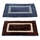 #8: Story@Home Handicraft Style Eco Series 2 Piece Cotton Blend Door Mat Set - 16