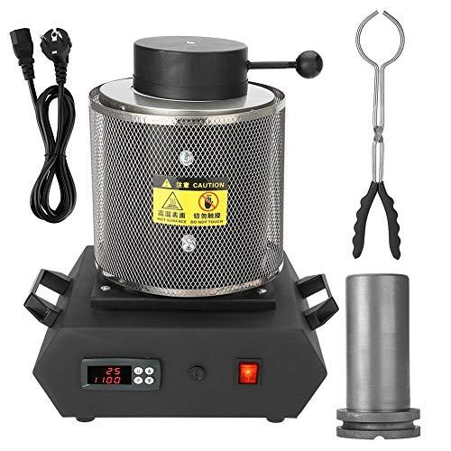 1KG/2KG Horno de fusión eléctrico Máquina de fundición automática digital para barra de vertido...