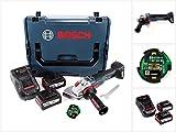 Bosch GWS 18 V-150 SC Professional Akku Winkelschleifer 150 mm Solo in L-Boxx mit GCY 30-4 Connectivity Modul und 2x GBA 6,3 Ah EneRacer Akku + 1x GAL 1880 Ladegerät
