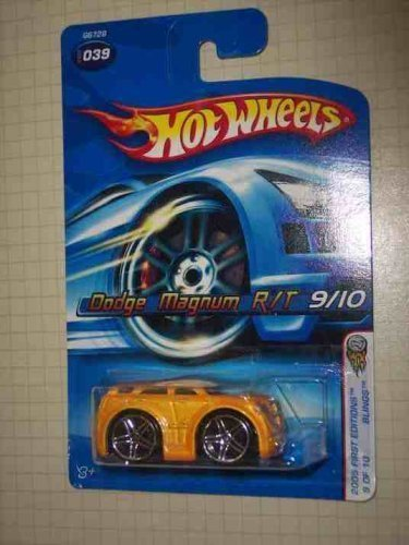 mattel-hot-wheels-2005-first-editions-164-scale-blings-yellow-dodge-magnum-r-t-die-cast-car-039-by-h